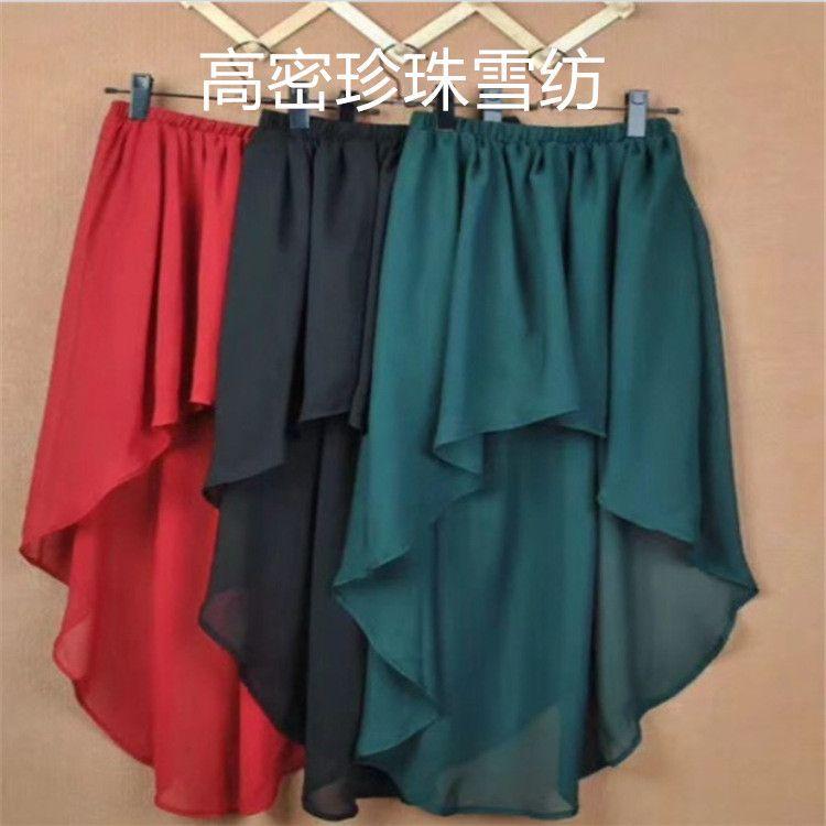 厂家直销5D高密雪纺珍珠面料 女装化疗绉围巾连衣裙防晒时装布料