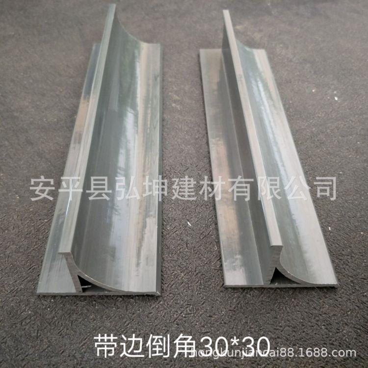 现货批发 热电厂pvc倒角线条 混凝土柱子倒角模版 PVC圆弧阳角