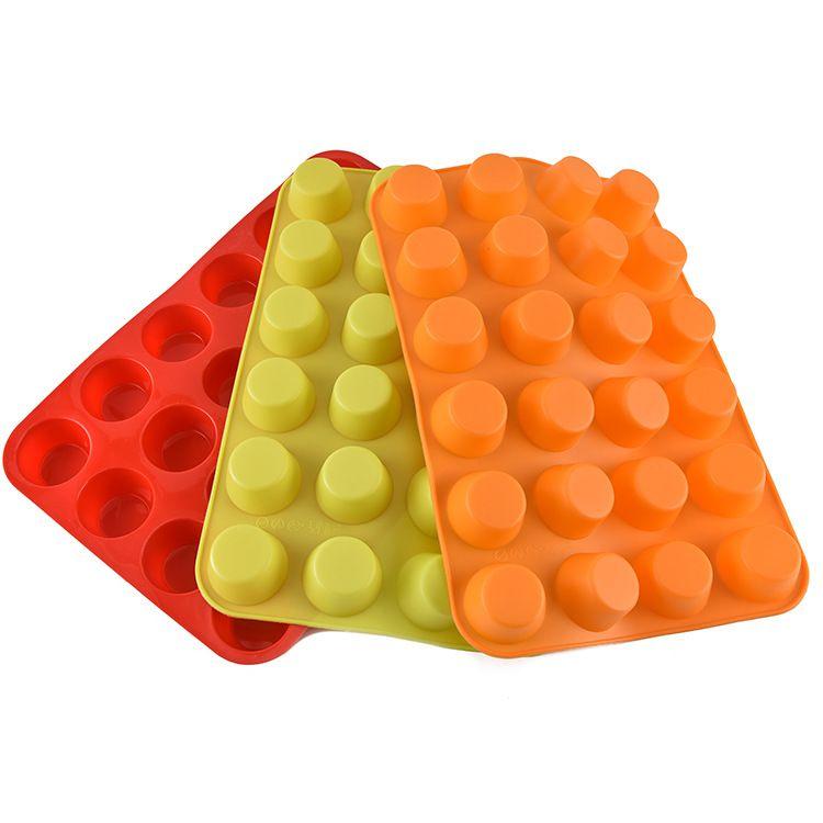硅胶蛋糕模 24连烘焙模具 手工皂模 DIY烘焙用具 现货滴胶模具