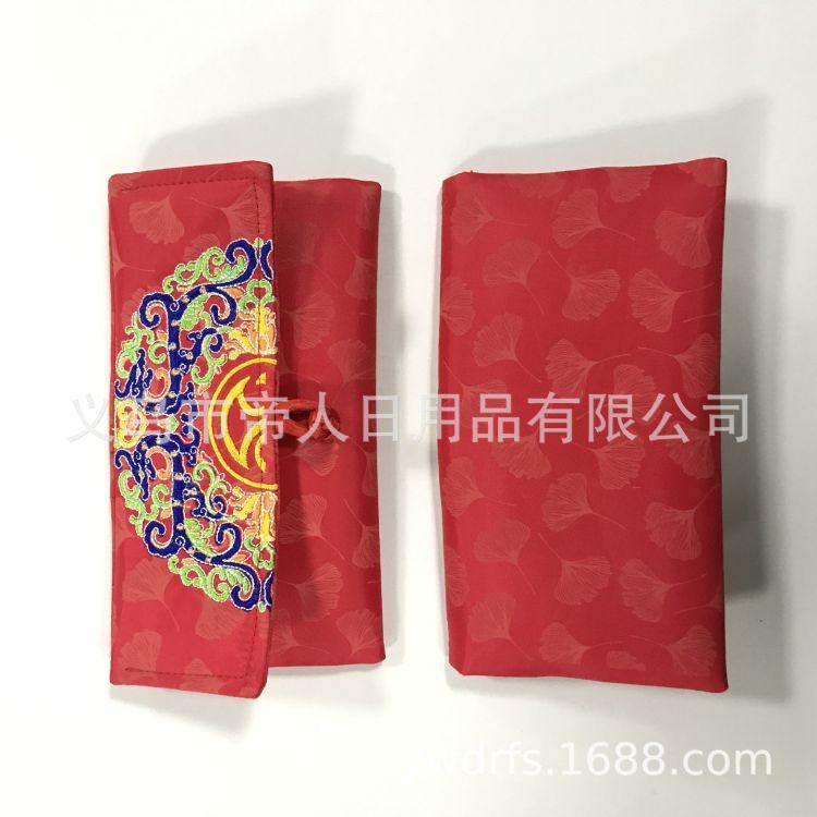 《加印logo》中国风刺绣笔袋  帆布笔袋 尼龙笔袋  牛津布笔袋