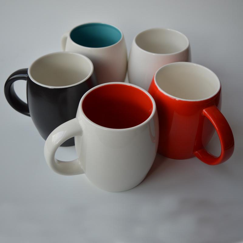 陶瓷马克杯 创意陶瓷杯 广告促销礼品杯 酒桶型杯子 水杯定制LOGO