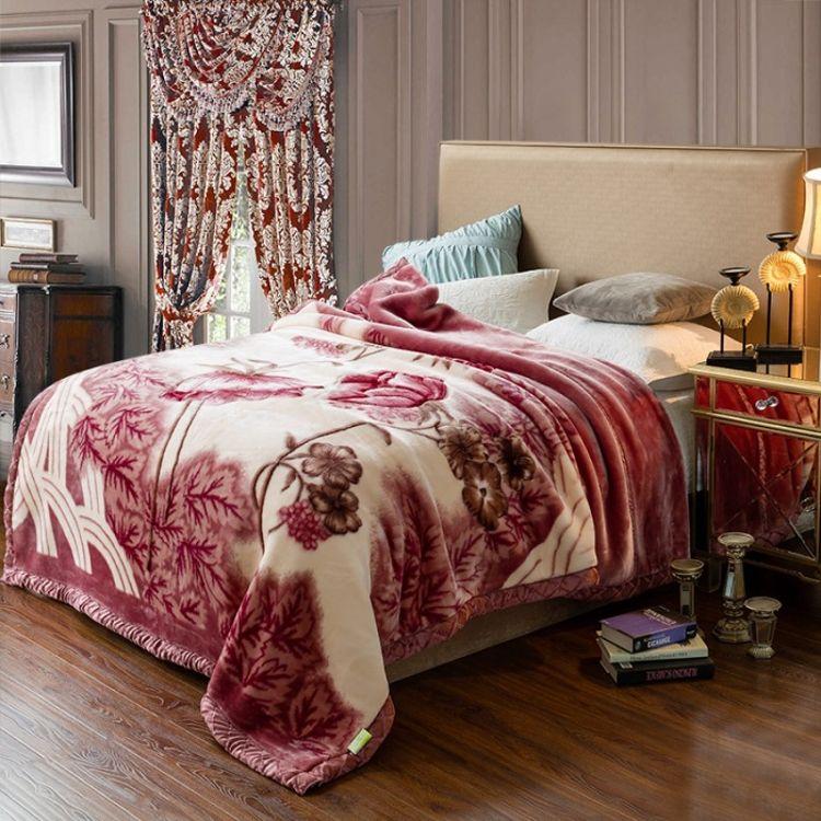 厂家直销毛毯加厚双层冬季拉舍尔盖毯超柔单双人婚庆毛毯毯子批发
