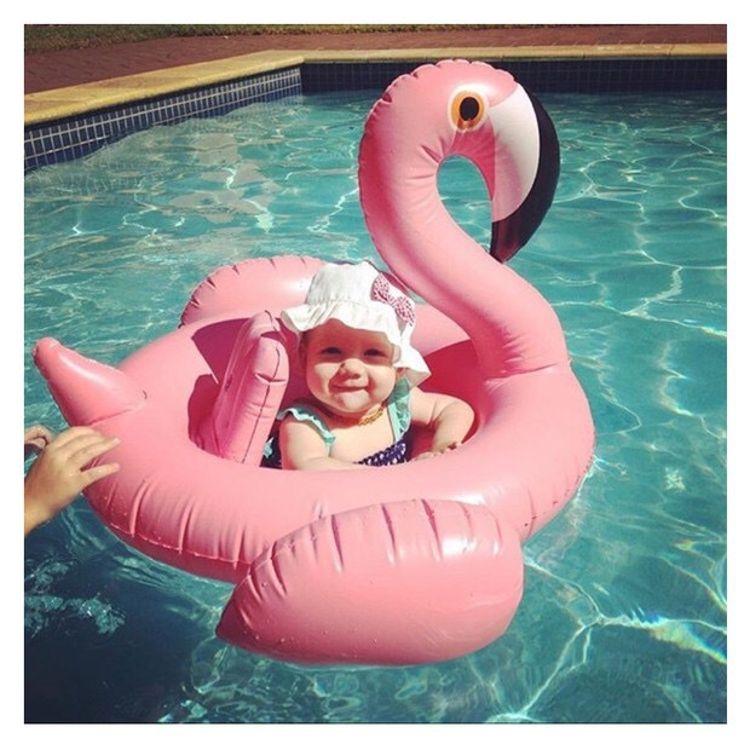 跨境专供火烈鸟儿童充气游泳圈
