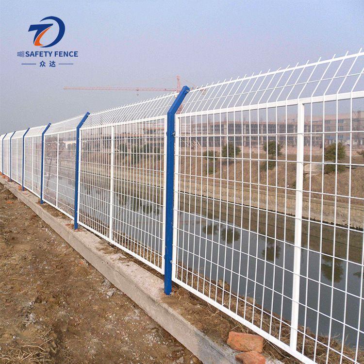 众达供应铁丝护栏网 道路防护网 小区防护栏定制