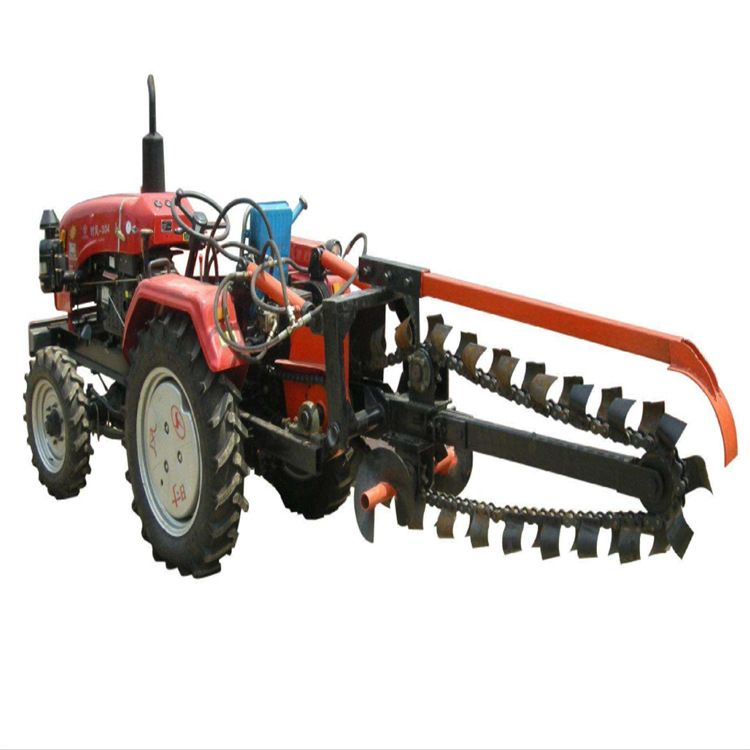 小型果园链条式开沟机 圆盘式农用深沟开沟机 山药大葱种植挖沟机