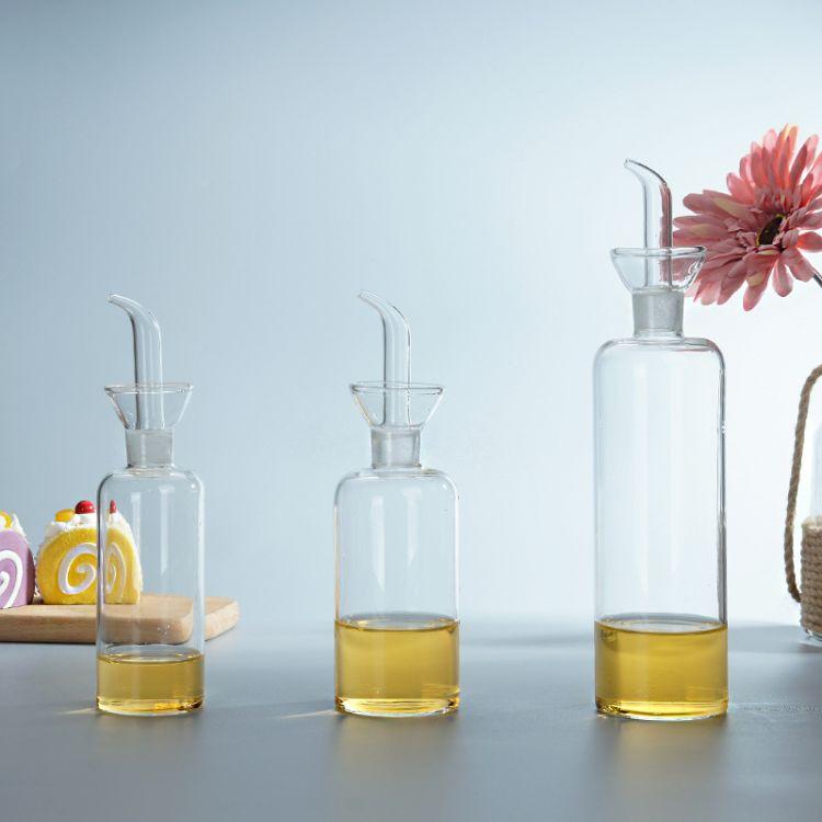 玻璃油瓶防漏油壶家用调味瓶玻璃香油瓶醋壶酱油瓶罐厨房用品