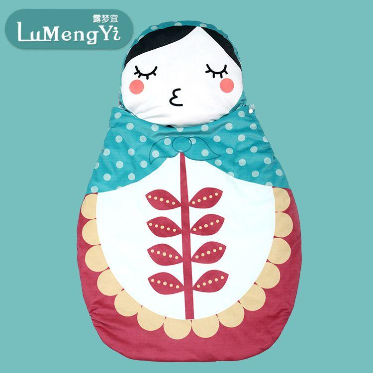 厂家直销可爱卡通婴儿睡袋柔软纯棉多功能防踢被宝宝外出抱被定制