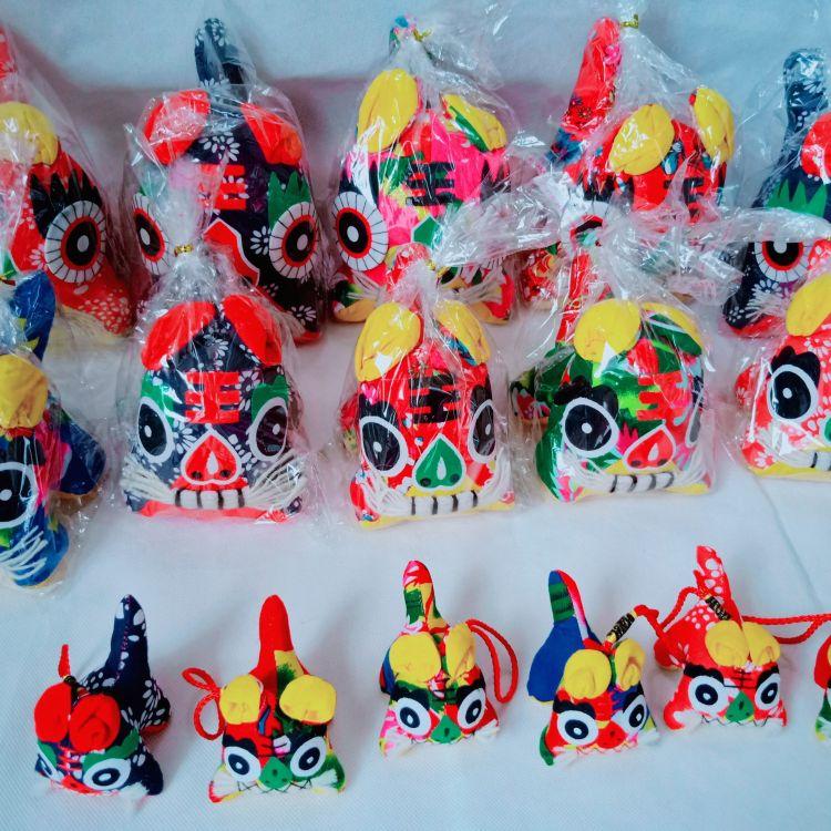 布老虎挂件纯手工制作民间 传统布艺老虎 中国民间老虎挂件礼品