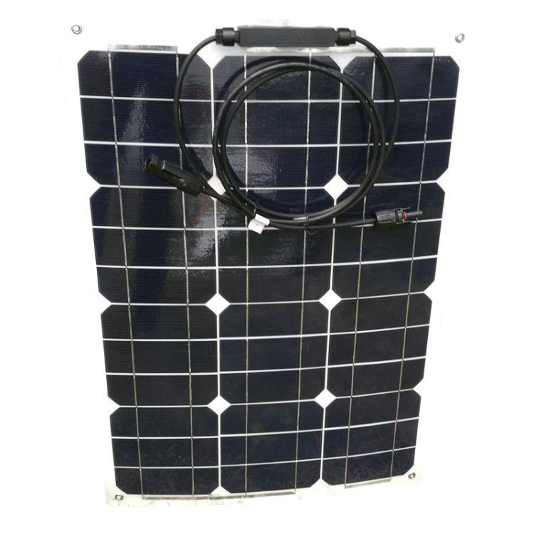 35W单晶太阳能电池板柔性板 高效柔性太阳能板 柔性薄膜太阳能板