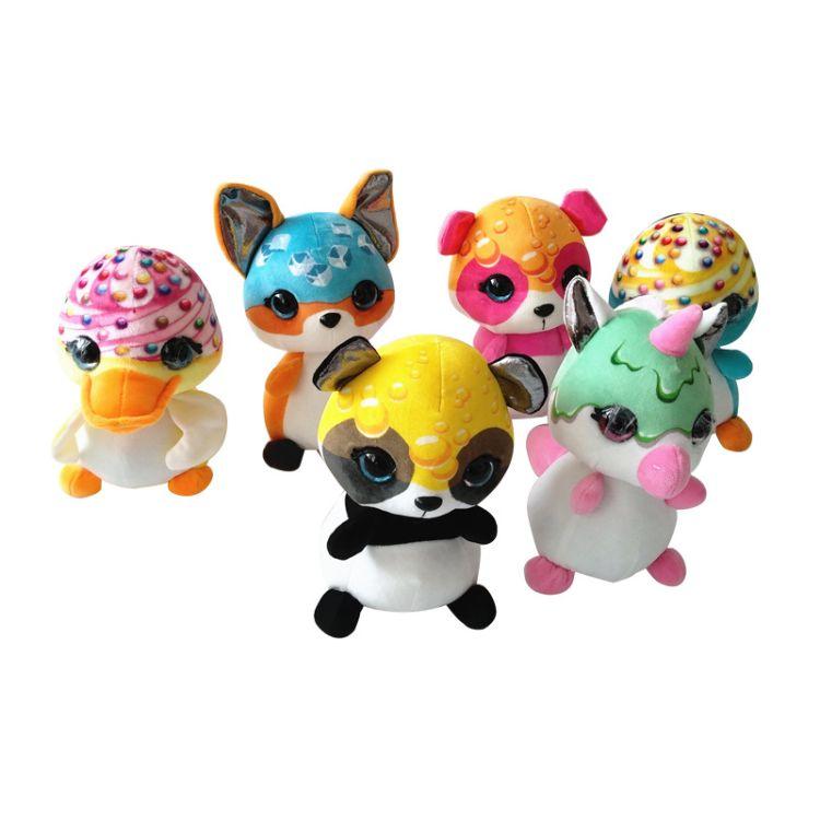 2018新款卡通毛绒玩具柔软可爱款抓机玩具抓机娃娃厂家批发