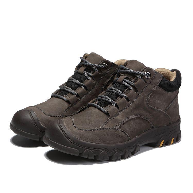 厂家直销户外登山鞋 休闲鞋 平跟加绒保暖休闲款防滑减震登山鞋
