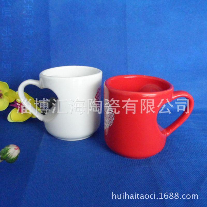 厂家专业生产注浆陶瓷杯 色釉异型陶瓷杯子 咖啡马克杯定制LOGO
