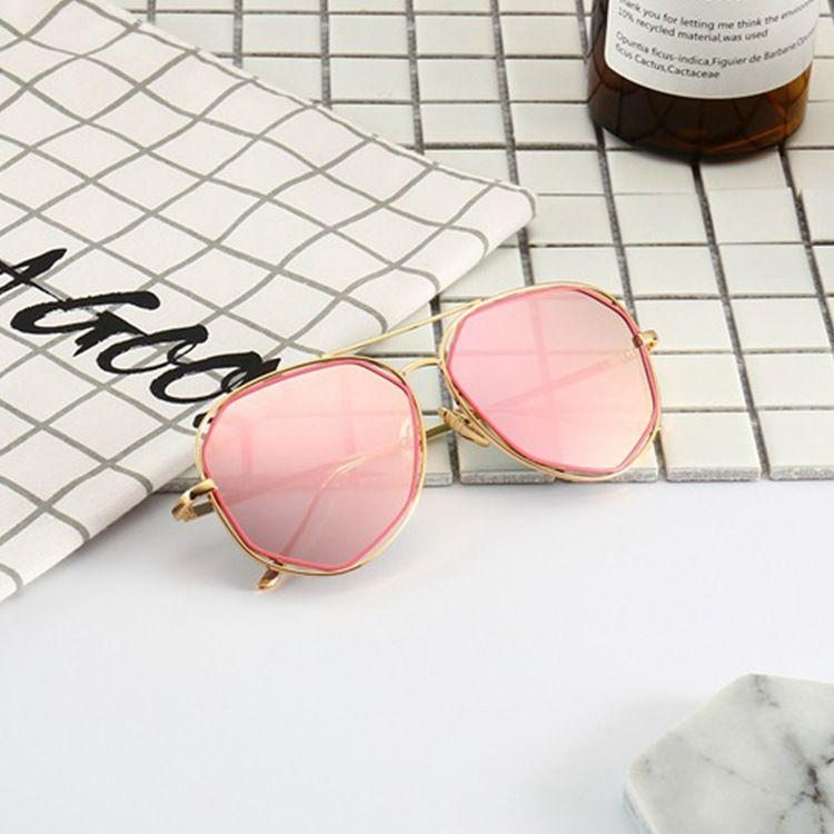 郑秀文同款多边形镂空太阳镜 男女士彩膜墨镜蛤蟆镜3025太阳眼镜
