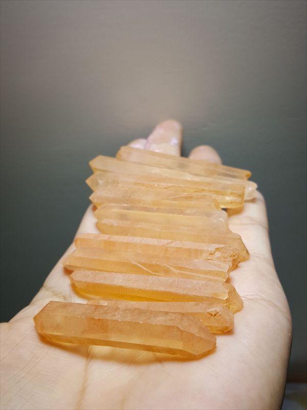 天然西藏红皮白水晶柱 白水晶原石