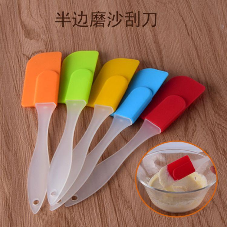 热卖蛋糕小号硅胶刮刀搅拌刀橡胶皮刮刀硅胶牛油奶油刮刀烘焙用具