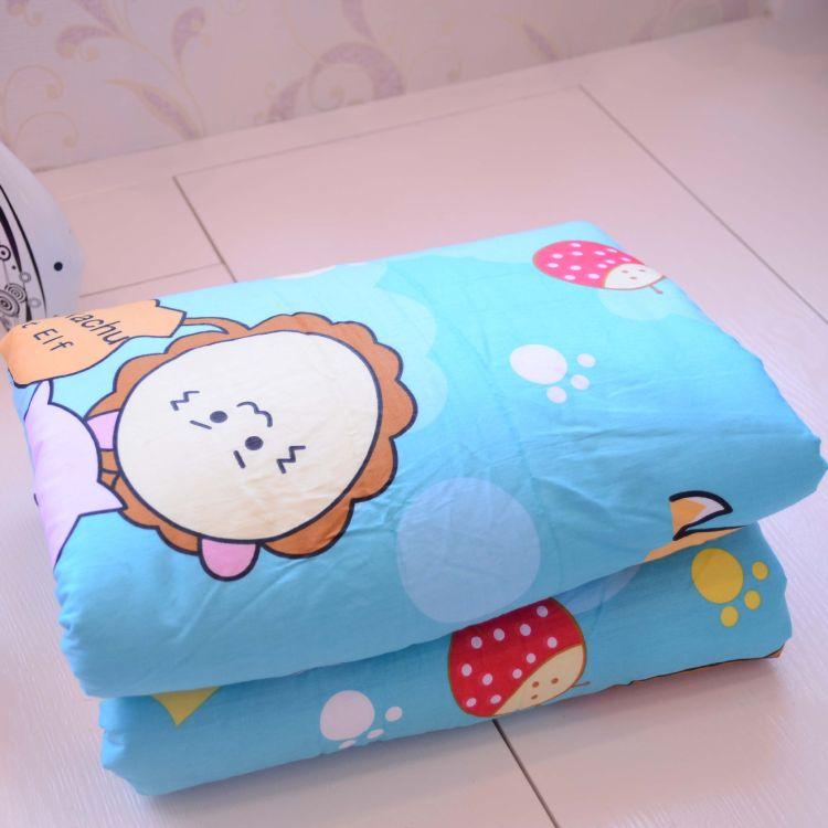 幼儿园被子儿童卡通床单被套可拆洗定做婴幼儿床上用品纯棉批发