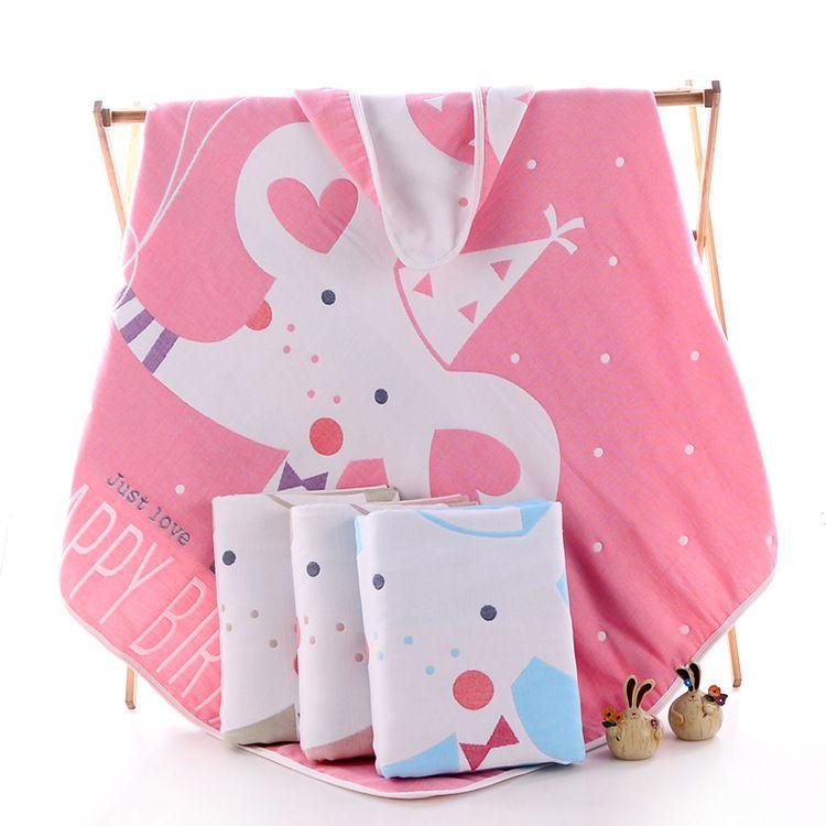 纱布浴巾婴儿外贸夹棉童被宝宝推车盖毯童被童被超柔加厚