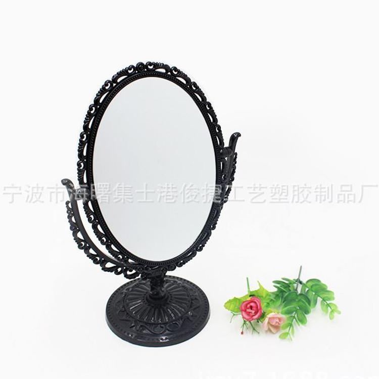 欧式塑料台式化妆镜 复古台式化妆镜高清美容梳妆镜