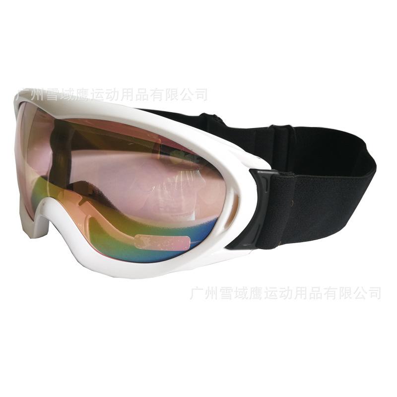 男女通用双层防雾滑雪眼镜 防风沙护目滑雪镜