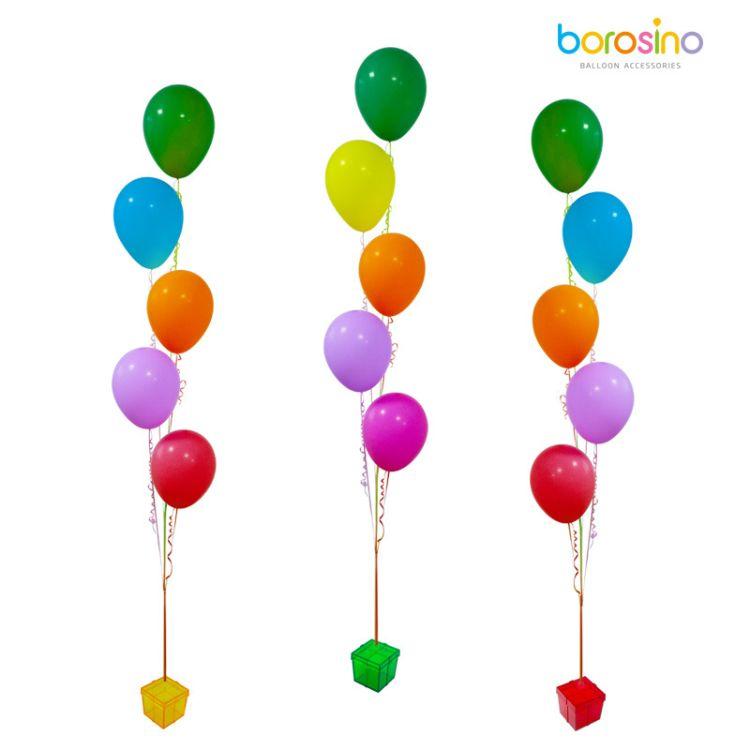 宝诺婚房生日派对气球布置道具 飘空氦气球承重块挂件 彩色吊坠