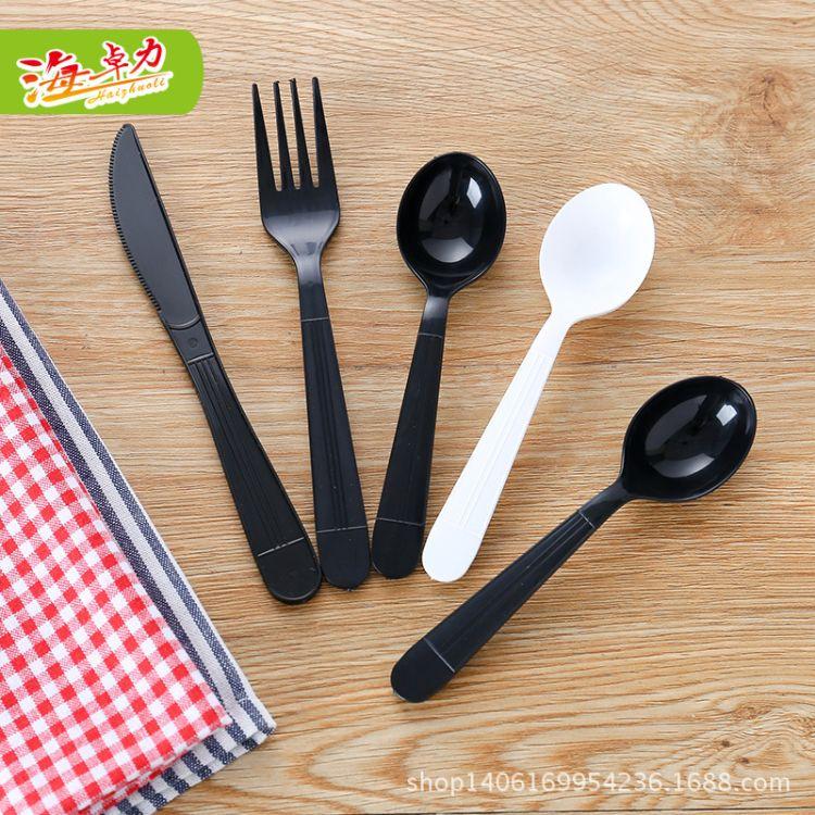 海卓力品牌直供一次性塑料叉蛋糕叉水果点心叉西餐叉面包叉面叉子