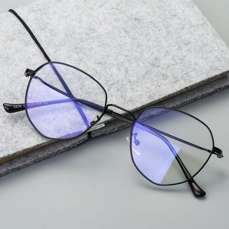 2018新款潮流圓框光學鏡 裝飾眼鏡框網紅同款光學框架 防藍光眼鏡