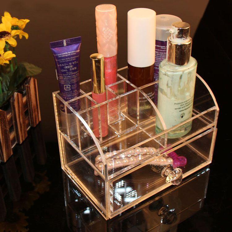 亚克力化妆品盒子 有机玻璃收纳盒 定做 展示架 江浙沪