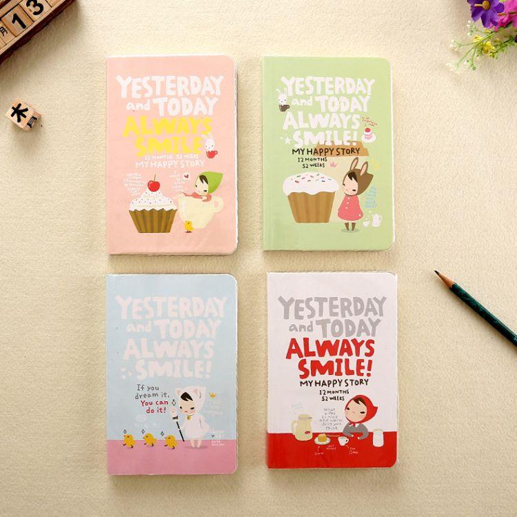 小红帽系列笔记本 韩国卡通日记清新创意学生记事日程本