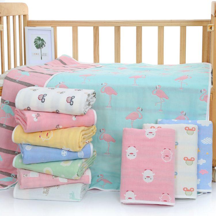 六层纯棉婴儿浴巾幼儿园毛巾被新生儿纱布童被儿童盖毯厂家批发