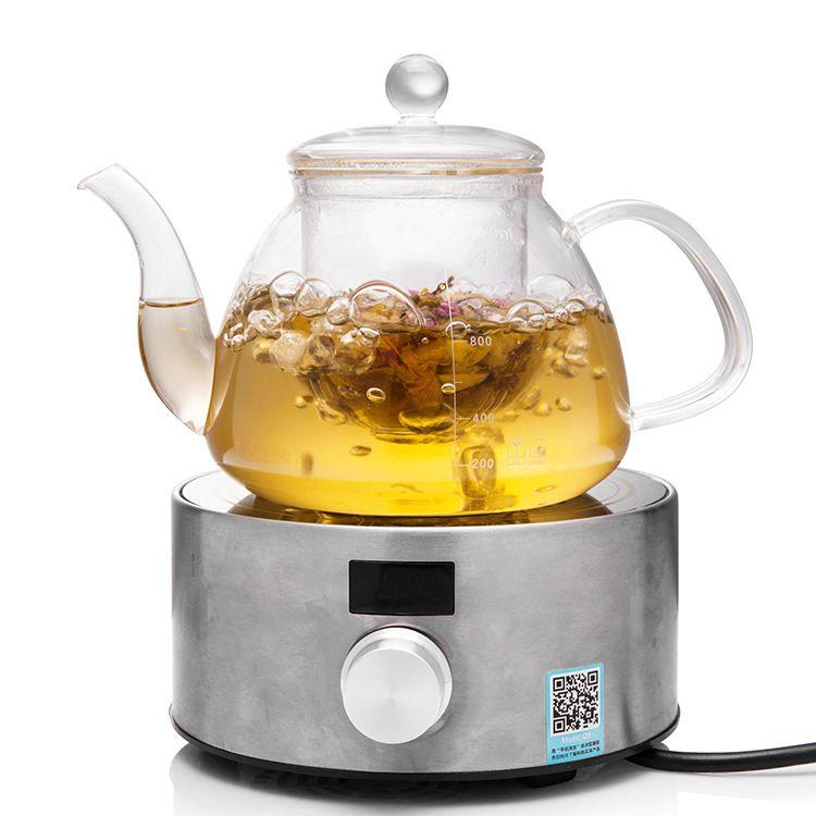 威美大容量玻璃煮茶壶 电陶炉专用耐热玻璃养生壶带盖带玻璃茶隔