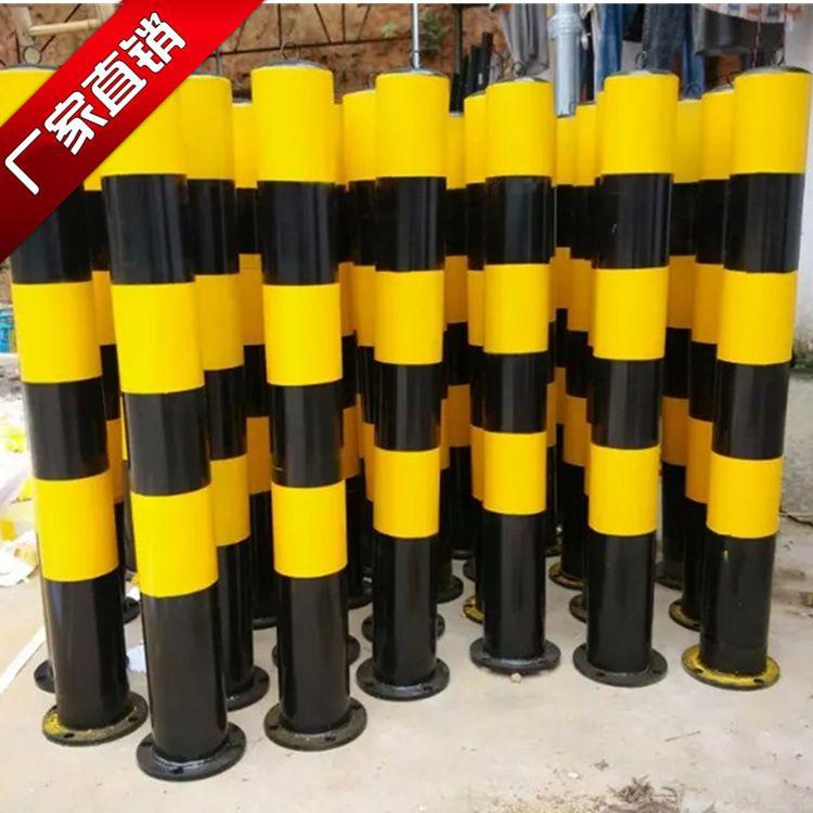 供应镀锌钢管防护柱 道路隔离桩 临时防撞柱 博昌厂家直销