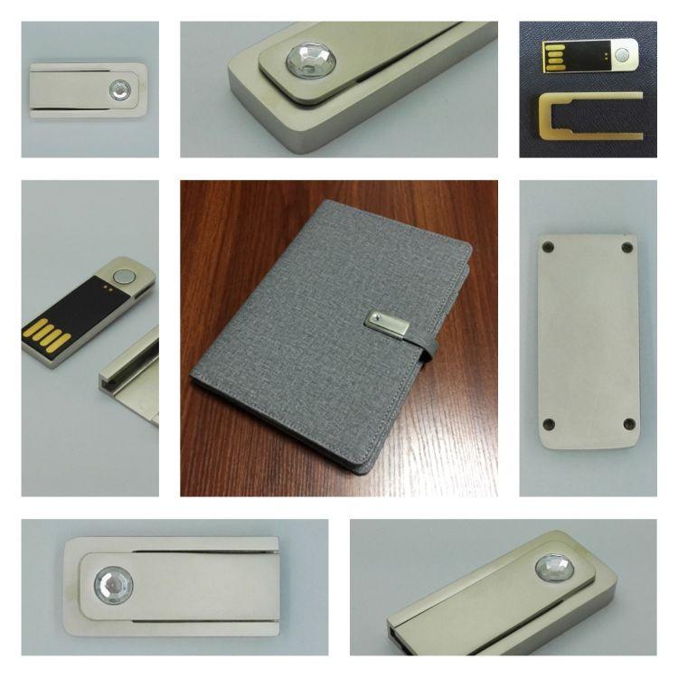 记事本U盘 笔记本金属优盘   笔记本u盘扣 本子磁性U盘M001