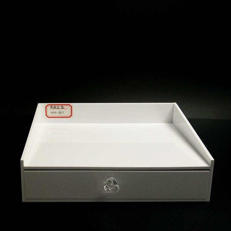 供应酒店易耗品盒 定制瓷白酒店用品盒洗漱用品收纳亚克力耗品盒