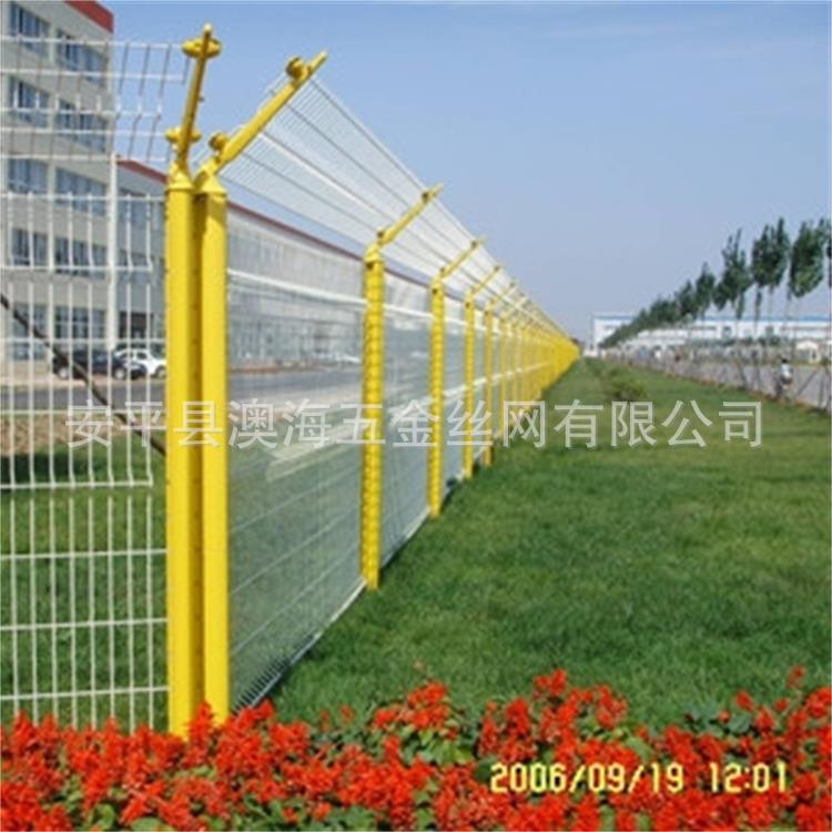 生产批发小区护栏 三角折弯护栏网 双圈护栏网 波浪护栏网