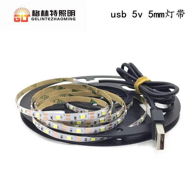 2835 usb柔性灯带 5v 3060灯滴胶防水LED 工艺品装饰USB灯条