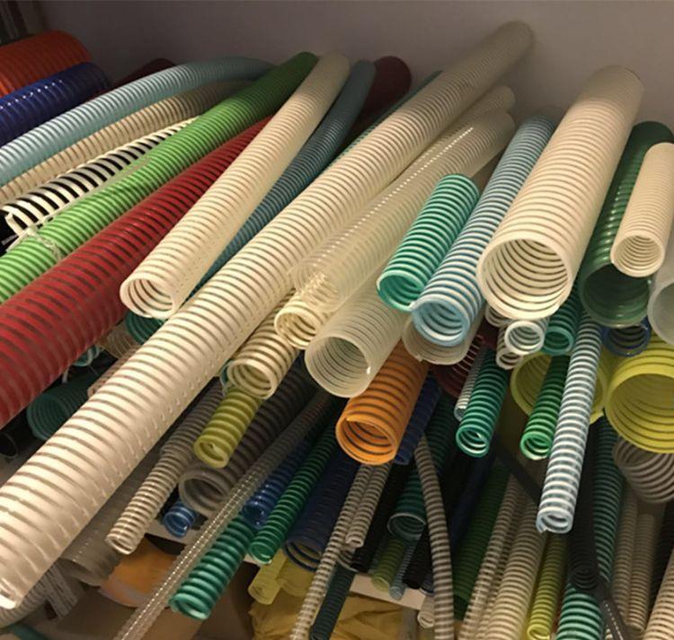 批发白色吸尘管  PVC透明螺旋塑筋管 252mm十寸加强筋工业软管