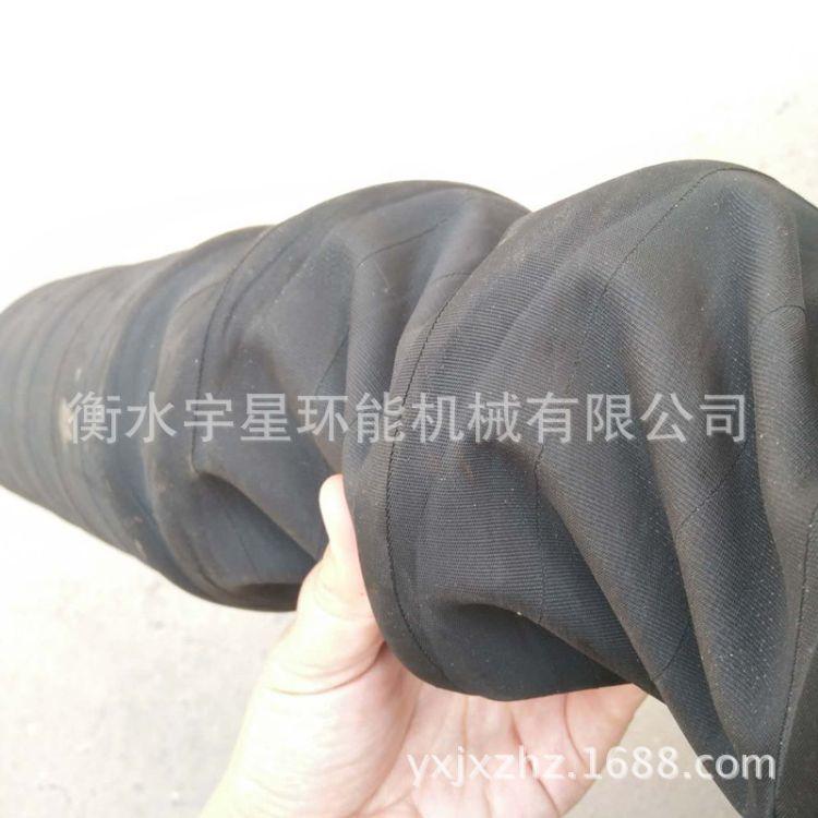 景县胶管厂生产伸缩胶管 钢丝骨架耐磨管 柔性尼龙布橡胶伸缩管