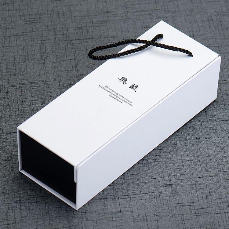 批发白色礼品盒定制做印字玻璃保温杯礼盒玻璃杯精美个性包装盒