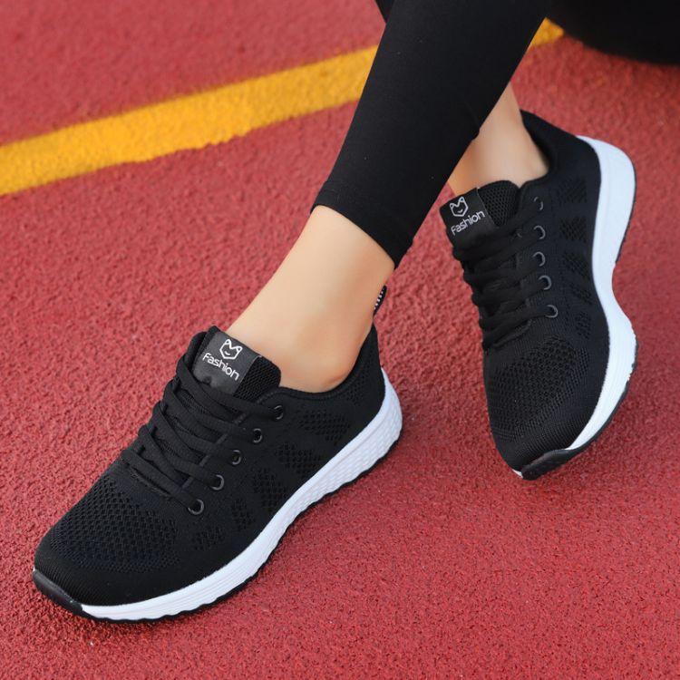 秋冬加绒棉鞋女装运动鞋女鞋黑色学生防臭软底休闲气垫跑步妈妈鞋