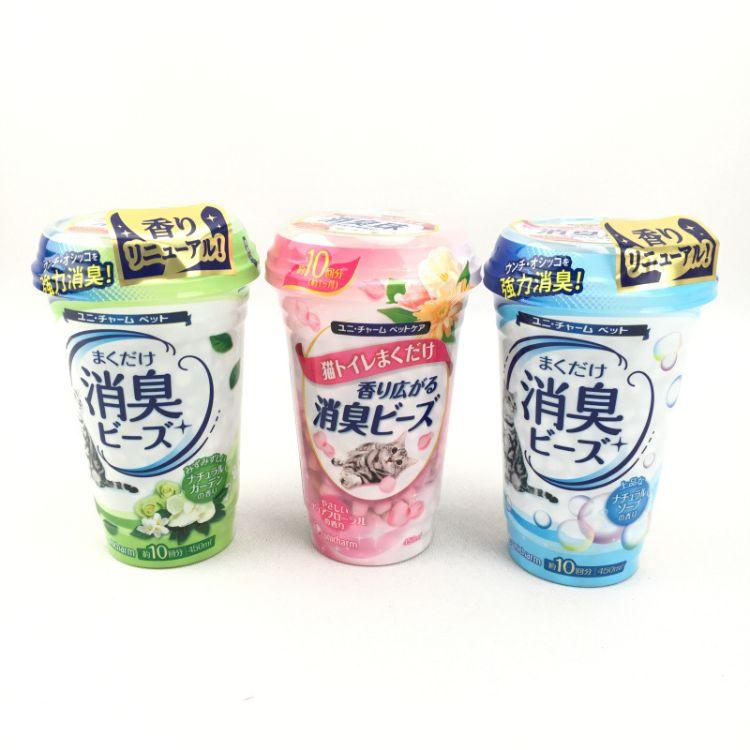 日本佳乐滋消臭珠除臭珠猫砂伴侣除臭片祛味颗粒去味粉香味450ml