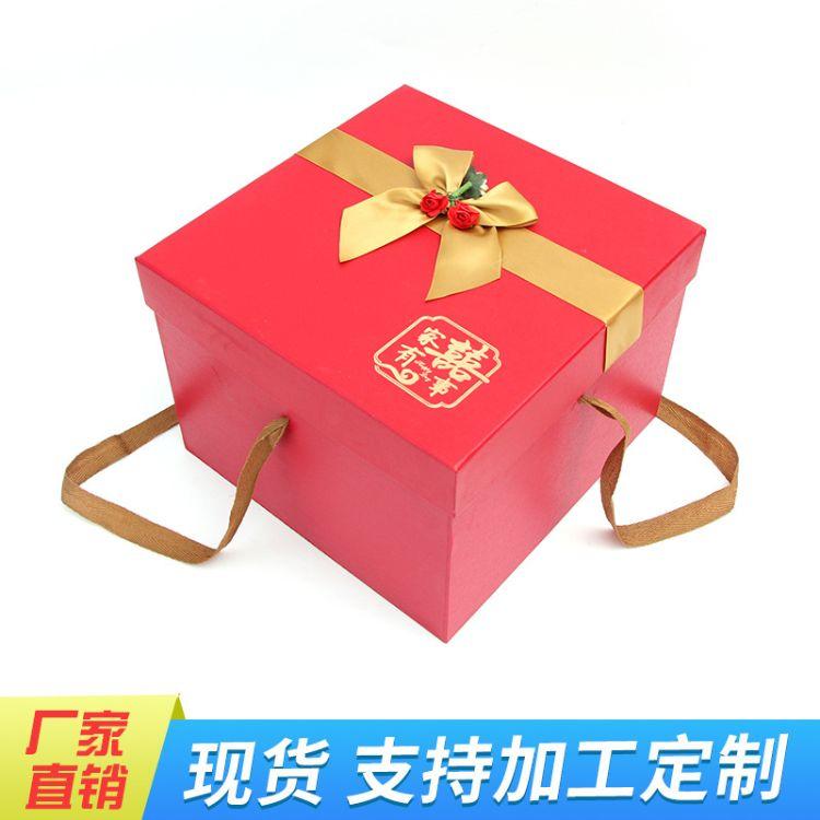 家有喜事礼盒包装盒结婚喜糖盒子伴手礼盒结婚中国风喜糖盒回礼