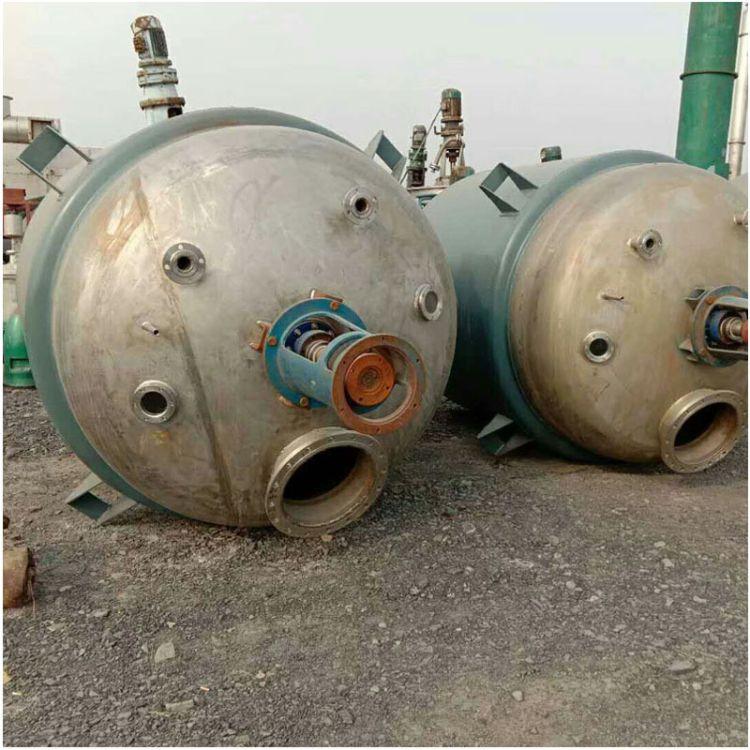 供应二手优质加热盘管反应釜 5立方外盘管不锈钢反应釜二手反应釜价格