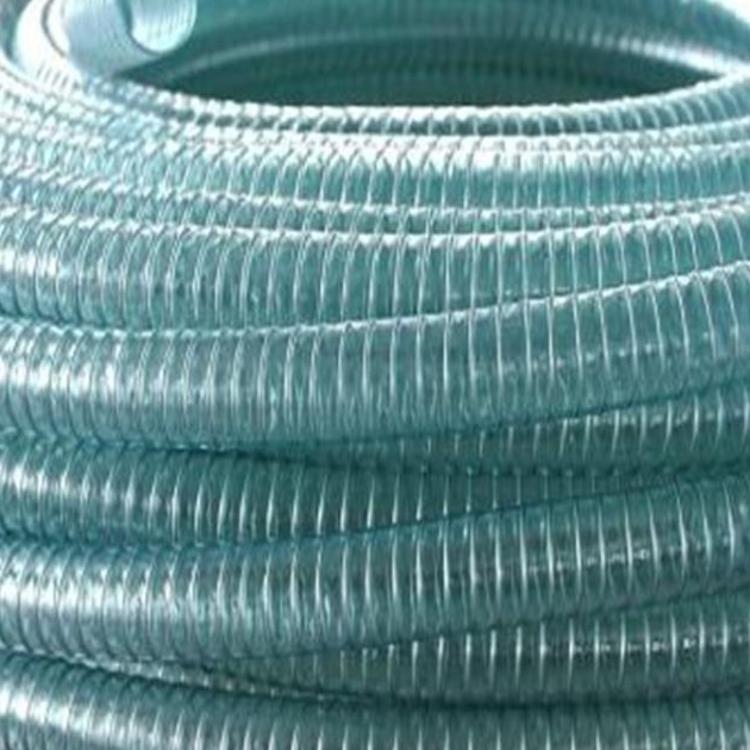 厂家批发出售PVC钢丝软管用途给水管加厚PVC钢丝透明软管软管