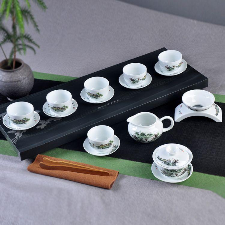 厂家批发 陶瓷茶具套装 高档茶具 可加LOGO 青花瓷茶具 功夫茶具