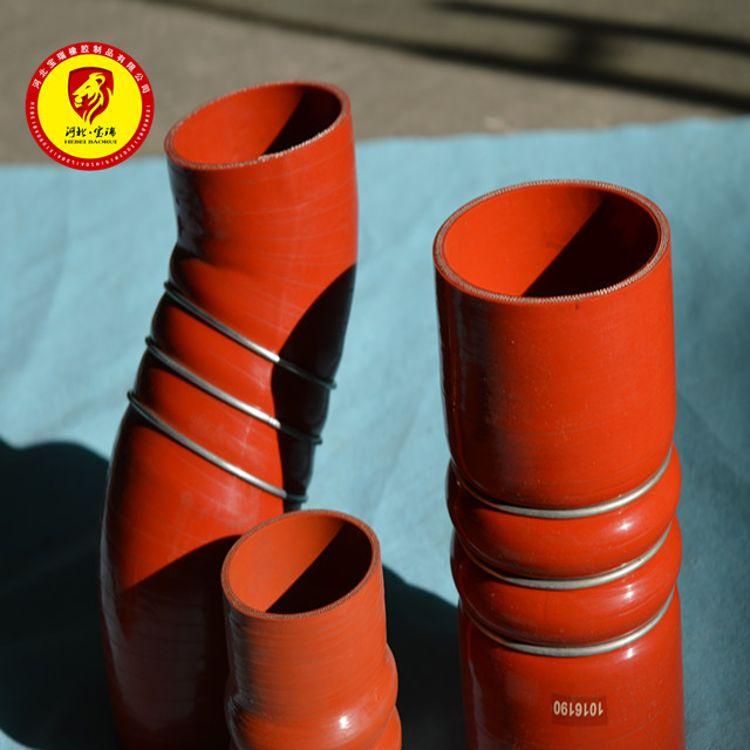 汽车硅胶管改装进气管耐高温波纹管定制空气管