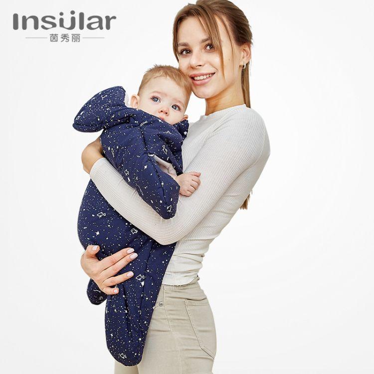 茵秀丽全棉卡通海星婴儿睡袋抱被新生儿宝宝分腿睡袋跨境6 20个月
