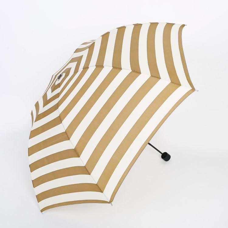 雨伞现货批发 7k条纹伞烤漆钢骨伞架晴雨伞 创意三折手开折叠伞