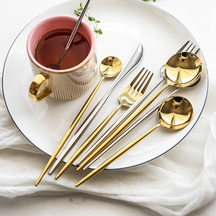 葡萄牙风格高档酒店西餐餐具 304不锈钢刀叉 镜面亮光牛排刀叉勺
