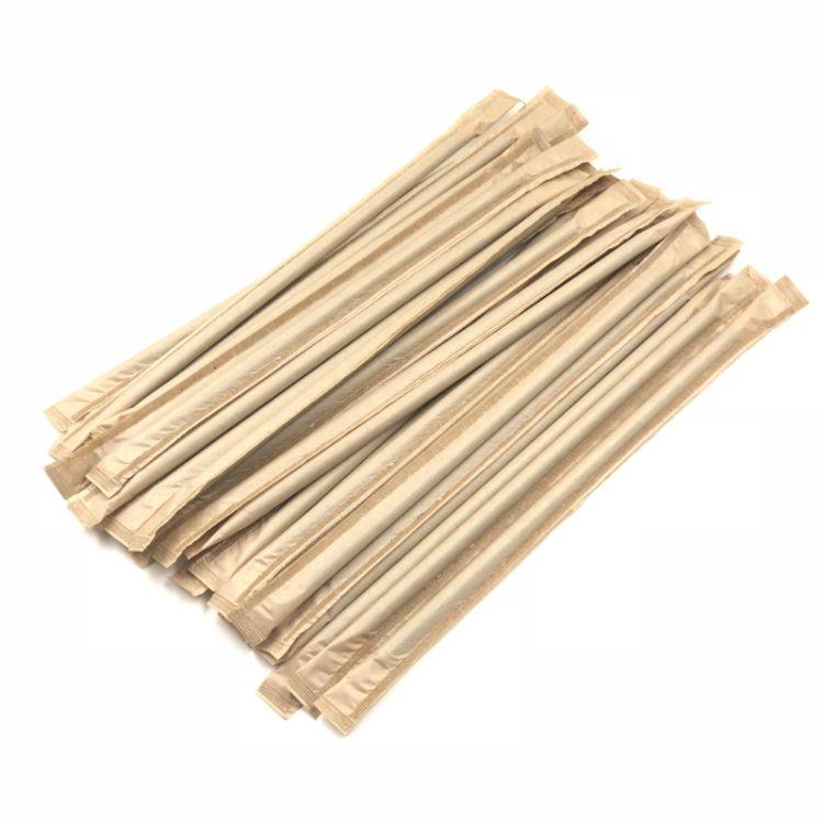 批发4000支一次性吸管23*0.7cm独立包装牛皮纸吸管奶茶果汁吸管