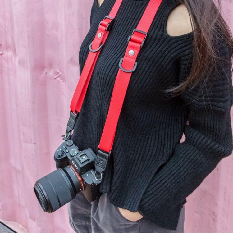 微单相机背带适用索尼相机背带快速斜背肩带单反相机肩带摄影器材